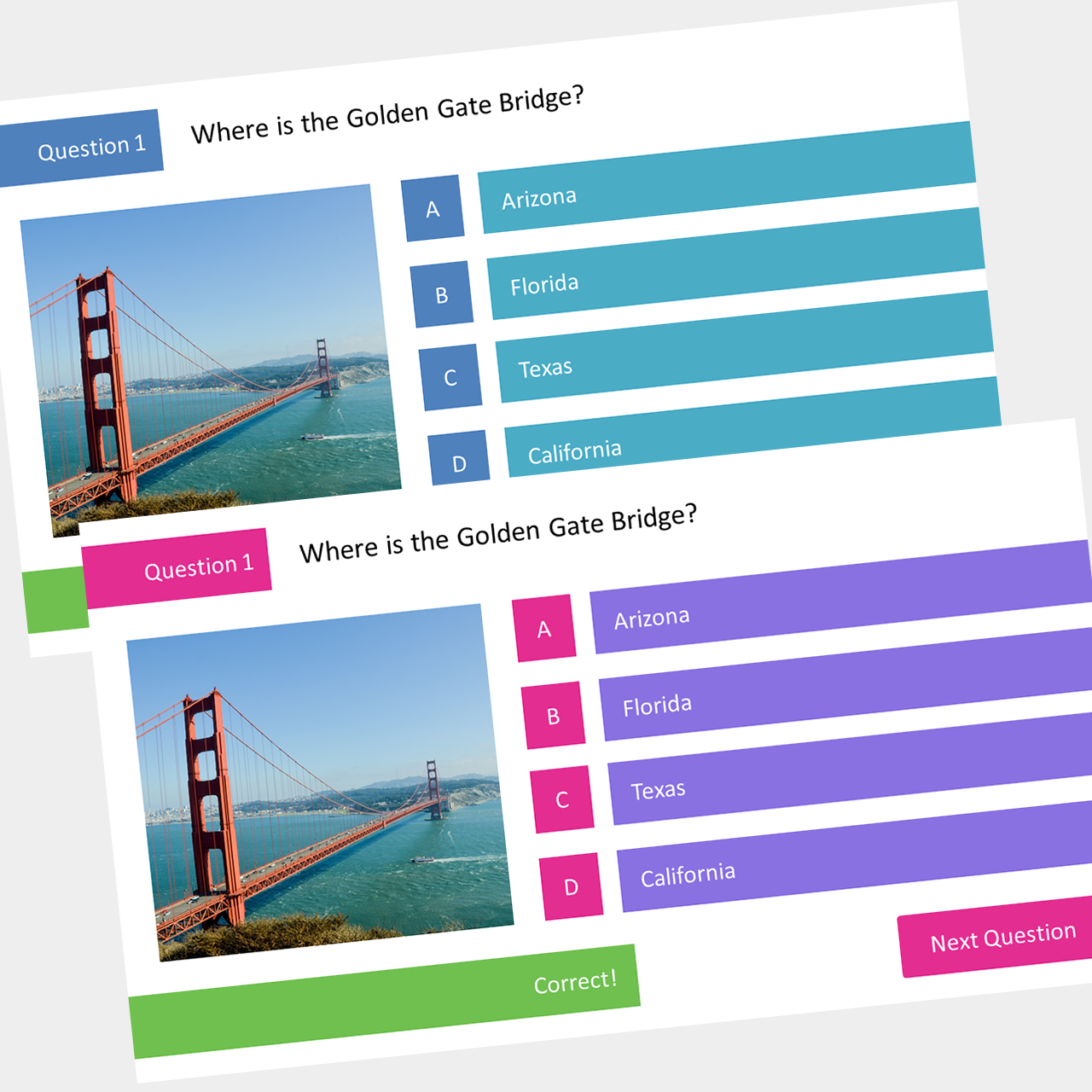 PowerPoint Interactive Multiple Choice Quiz Template - Slide Tutorials Pertaining To Powerpoint Quiz Template Free Download