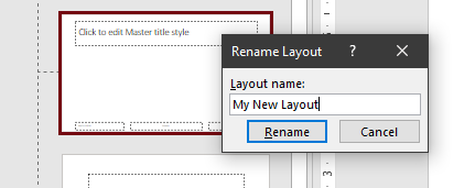 Rename layout box