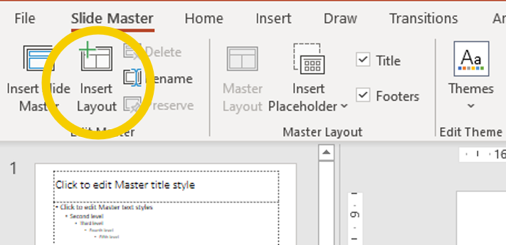 Slide Master Insert layout icon